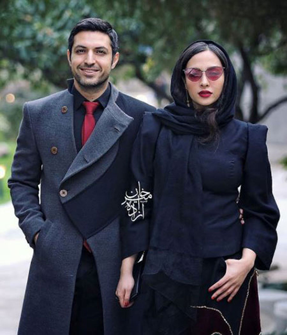 اشکان خطیبی و همسر جوانش   عکس