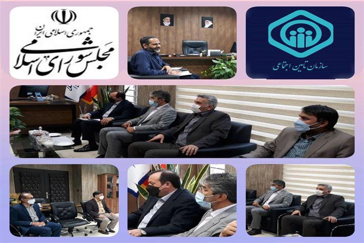 دیدار مدیران کل بیمه و درمان تامین اجتماعی استان البرز با نماینده مجلس