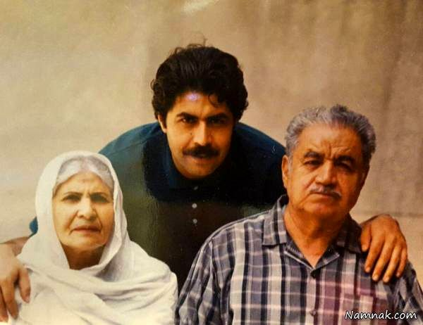 فرهاد اصلانی در کنار پدر و مادرش