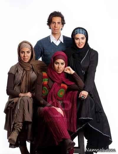 لیلا بلوکات در کنار خواهر و برادرش