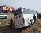 20 مجروح در اثر واژگونی اتوبوس زائران اربعین
