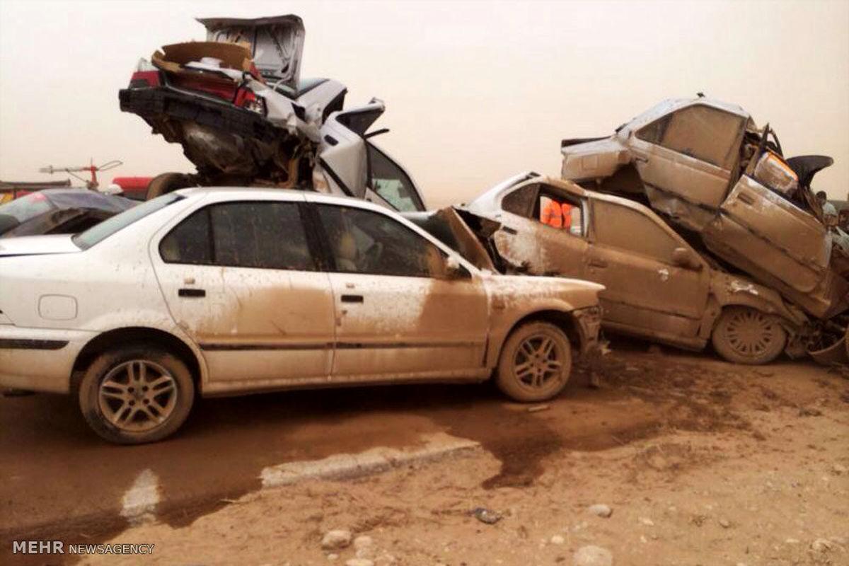 جزئیات تصادف زنجیرهای در خوزستان