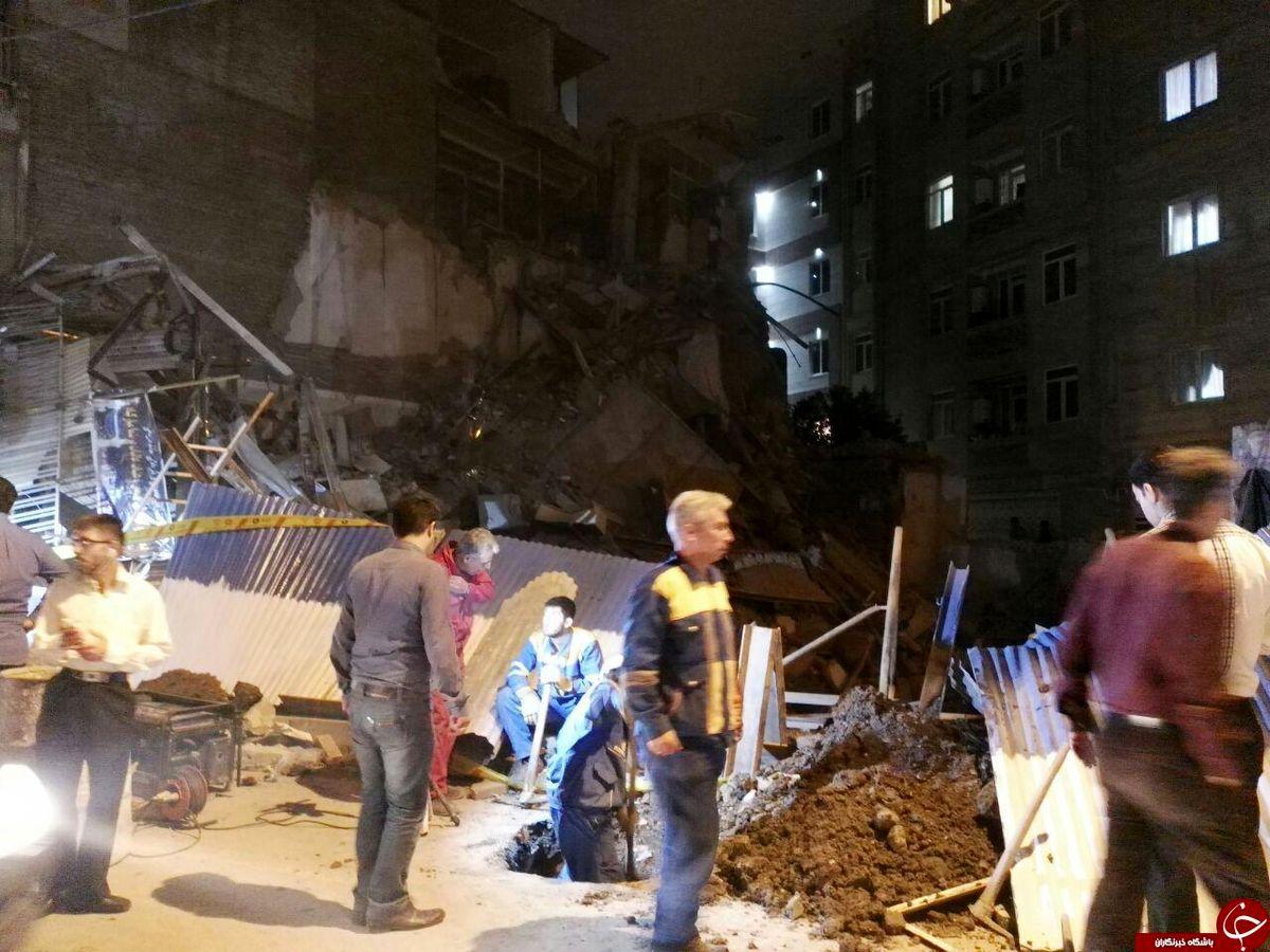 ریزش ساختمان دو طبقه بر اثر بارش باران در اهواز + فیلم