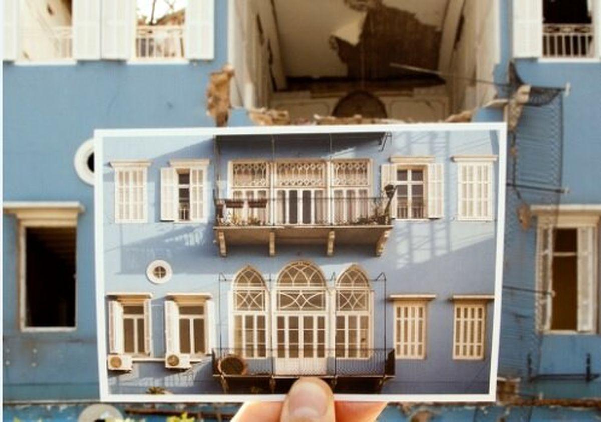 بیروت قبل و بعد از انفجار + تصاویر