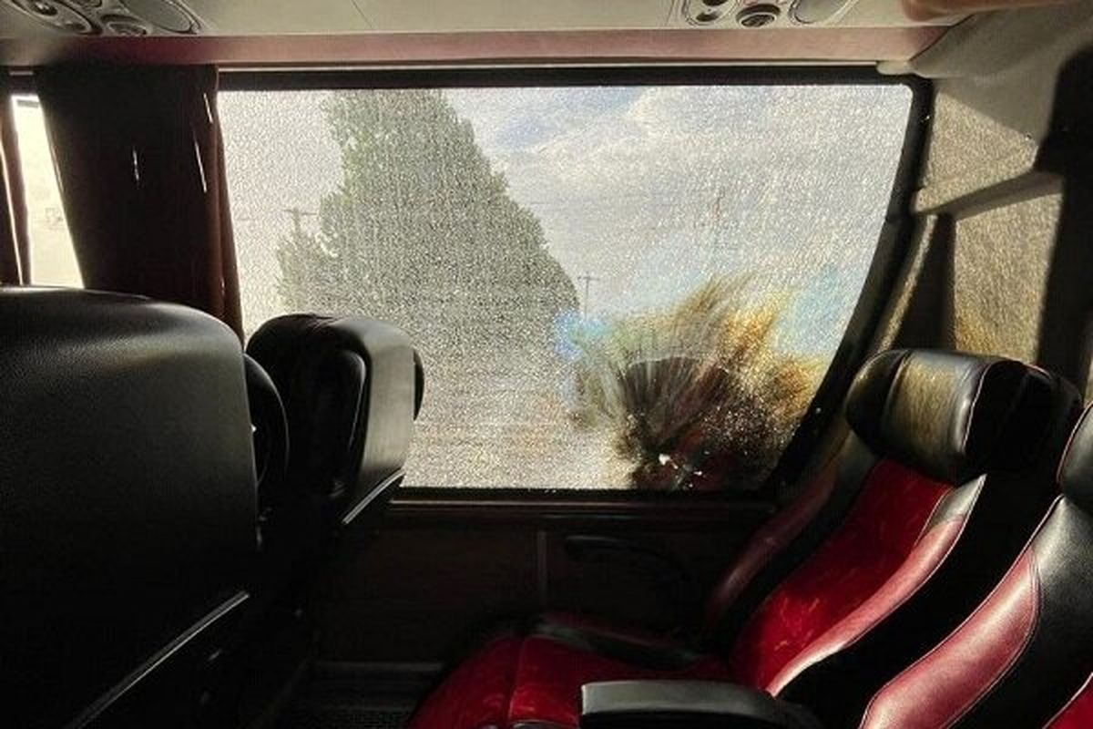 حمله با نارنجک به اتوبوس بازیکنان پرسپولیس + عکس و فیلم