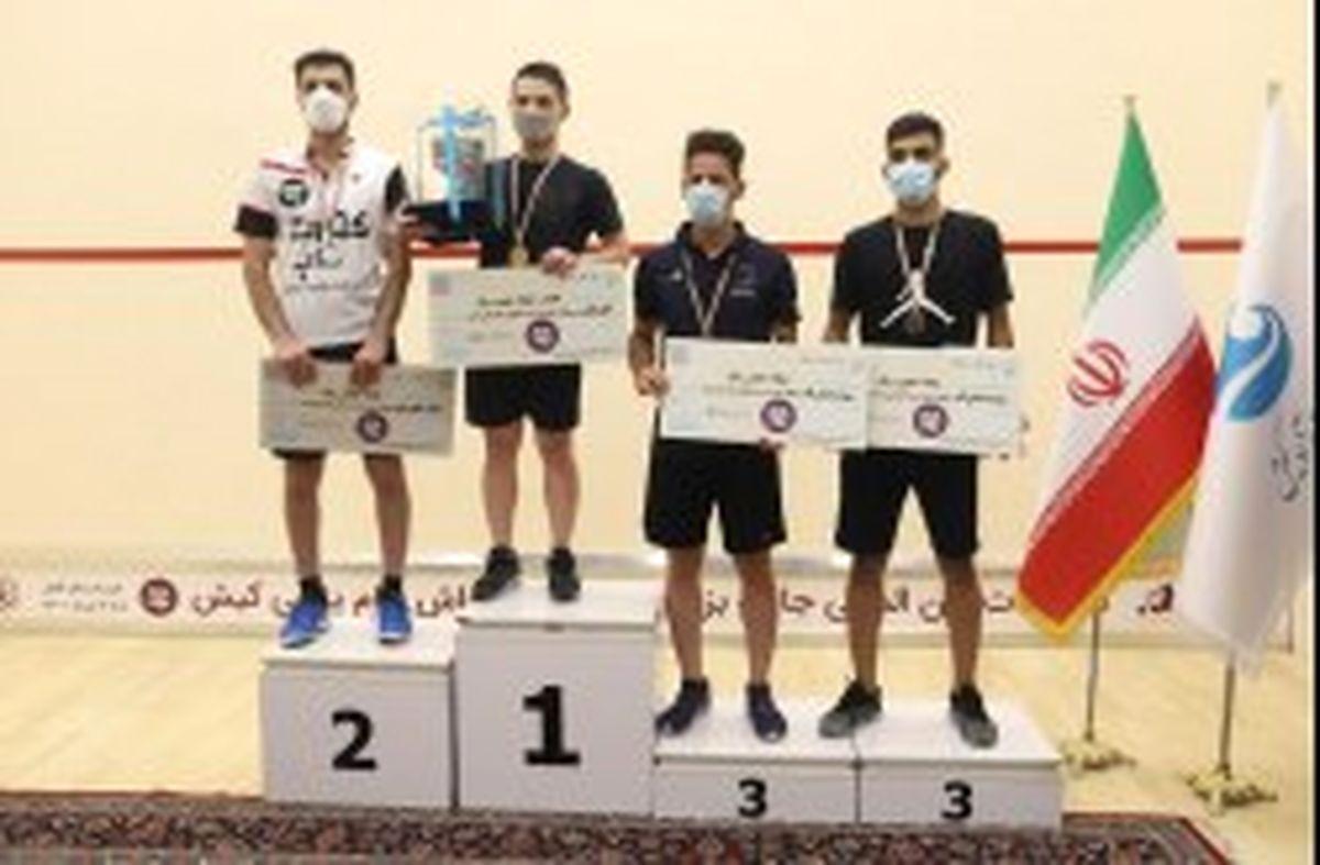 قهرمانی کیش در مسابقات بینالمللی جایزه بزرگ حرفهای اسکواش