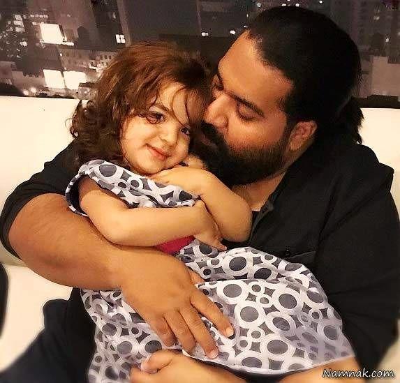 رضا صادقی و دخترش تیارا
