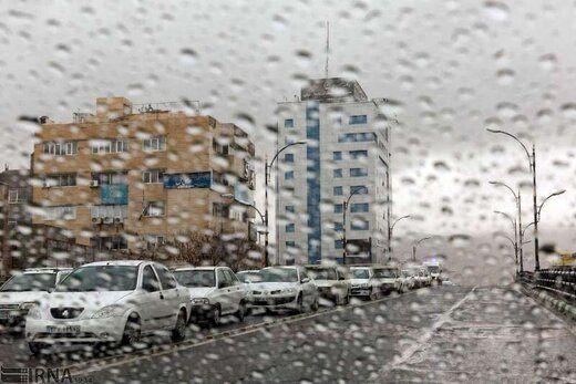 بارش باران در 5 استان کشور + جزئیات