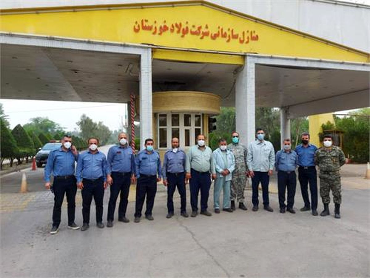گشت زنی در محوطه اطراف شرکت فولاد خوزستان