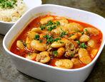 طرز تهیه غذای ترکی خورشت فاصولیه