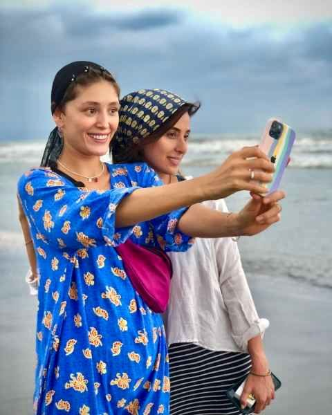 گوشی موبایل لاکچری فرشته حسینی + عکس