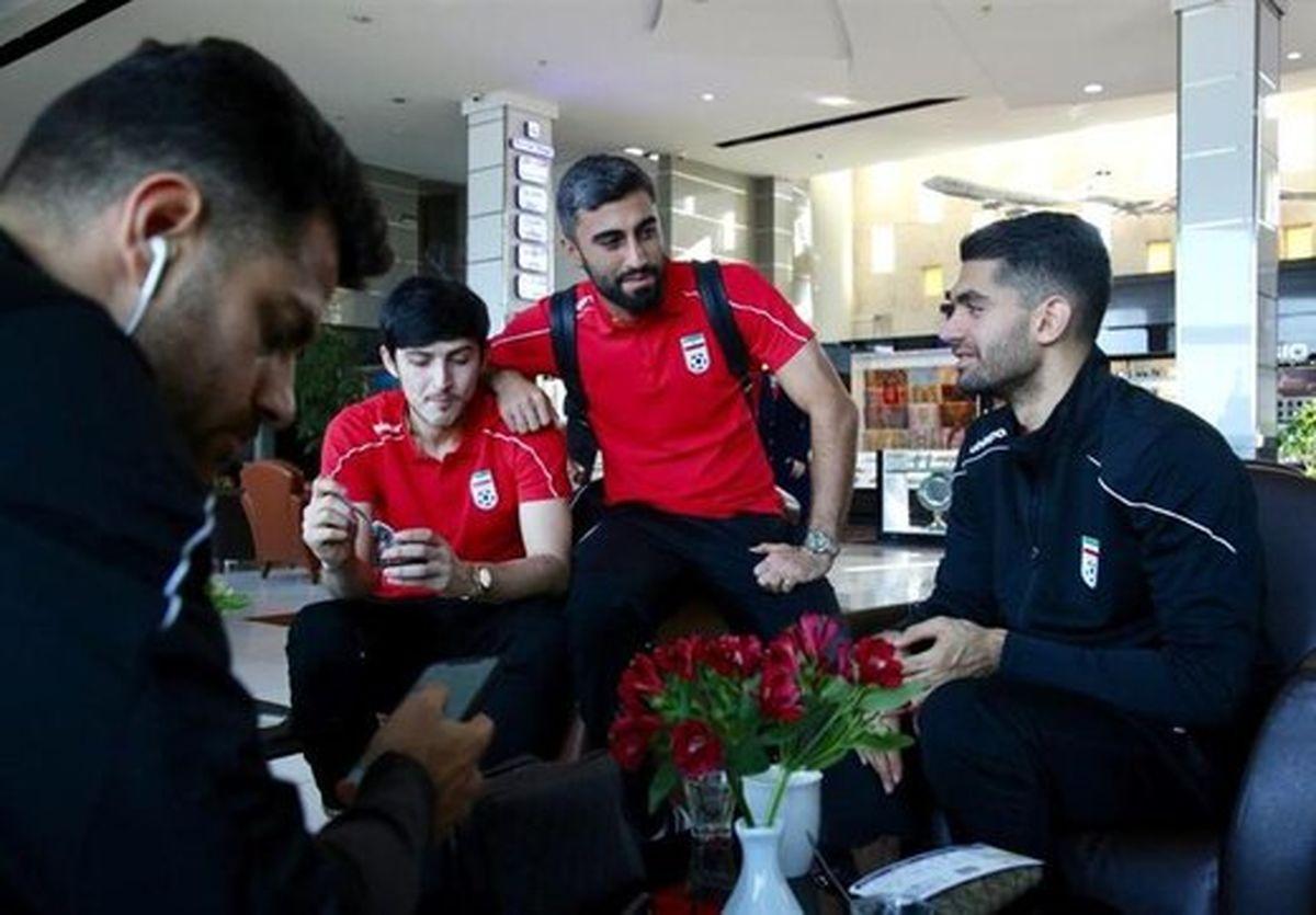 تیم ملی فوتبال راهی اردن شد +عکس
