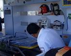 بیمار از آمبولانس بیرون افتاد + فیلم