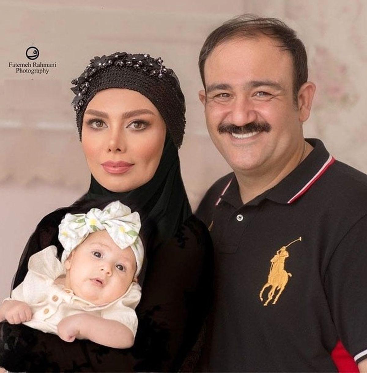 مهران غفوریان| عکسهای دیده نشده با همسرش در تولد لاکچری هانا غفوریان + عکس