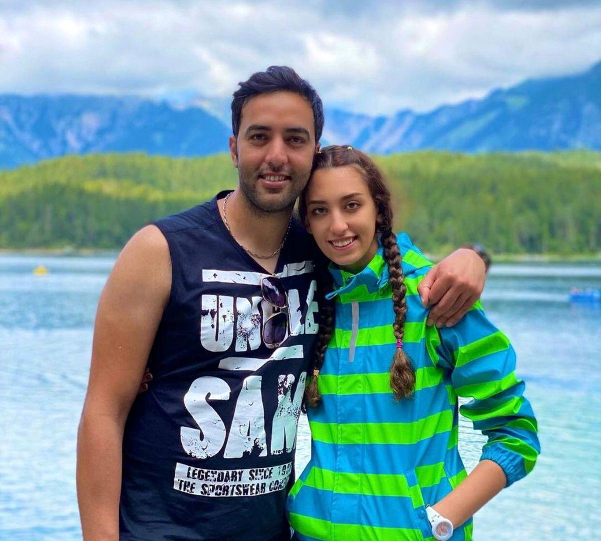 عکس لورفته از کیمیا علیزاده در کنار همسرش + عکس دونفره