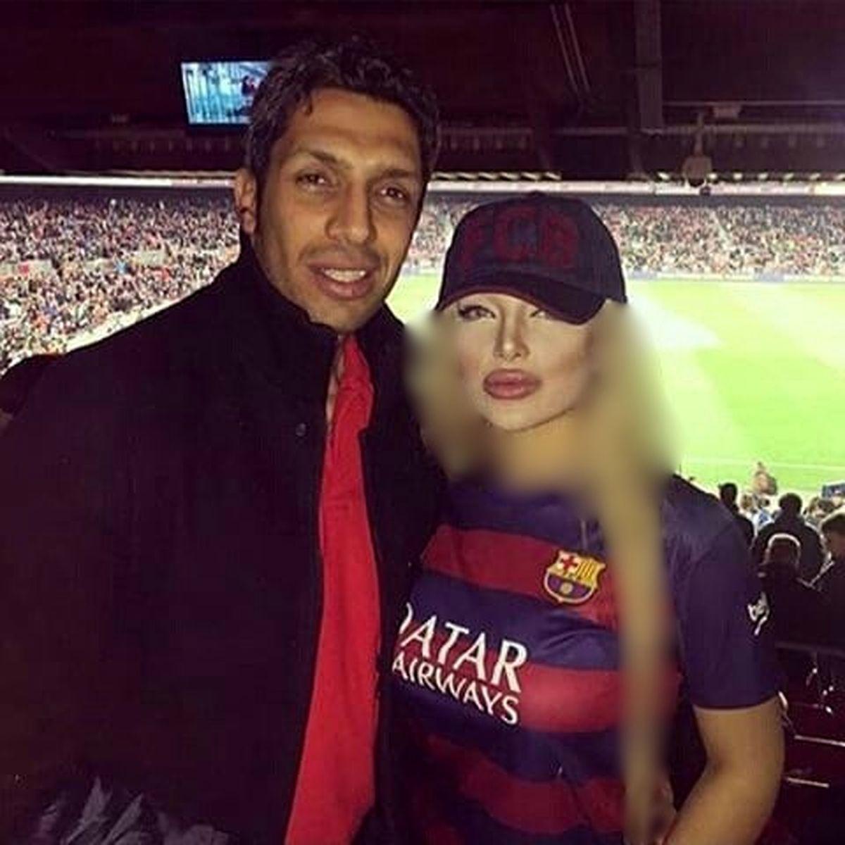 عکس جنجالی سپهر حیدری در کنار همسرش در نیوکمپ بارسلون + بیوگرافی و تصاویر جدید