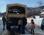 کمک ارتش به ۱۵۰ روستا در محاصره برف تبریز