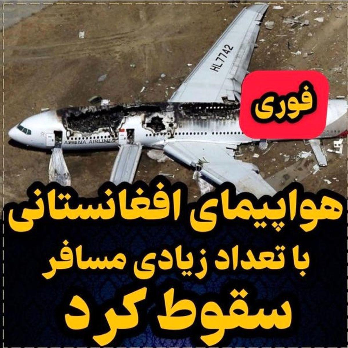 لحظه سقوط دو افغان از هواپیما   فیلم
