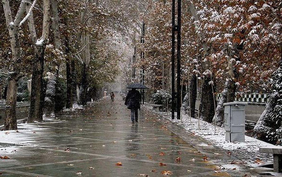 پیشبینی بارش باران و برف پنج روزه در کشور