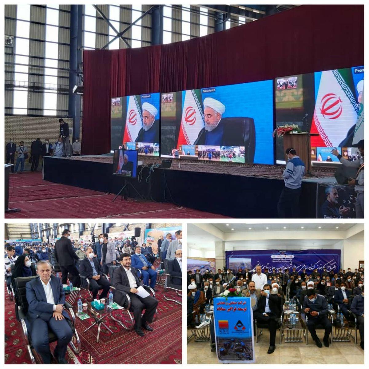 افتتاح دو کارخانه فولادی سنگان