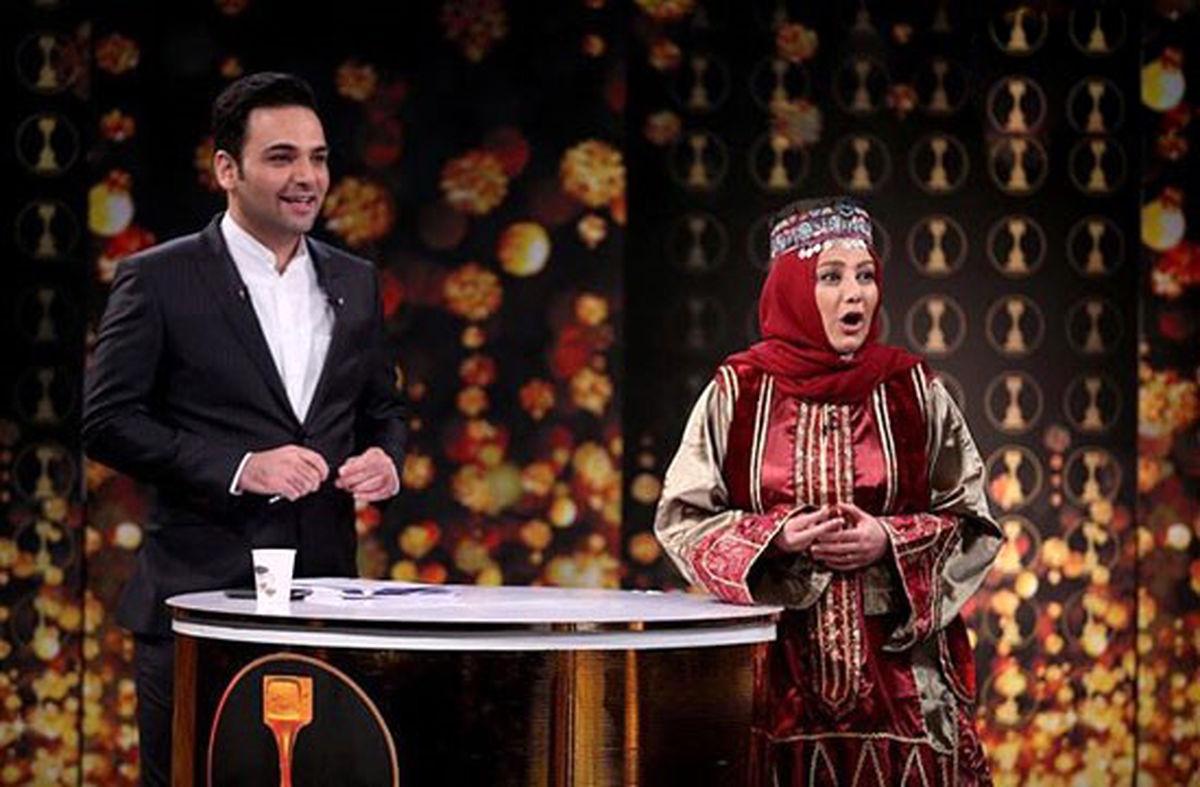 احسان علیخانی سوتی وحشتناک بهنوش بختیاری در برنامه زنده اش  + فیلم