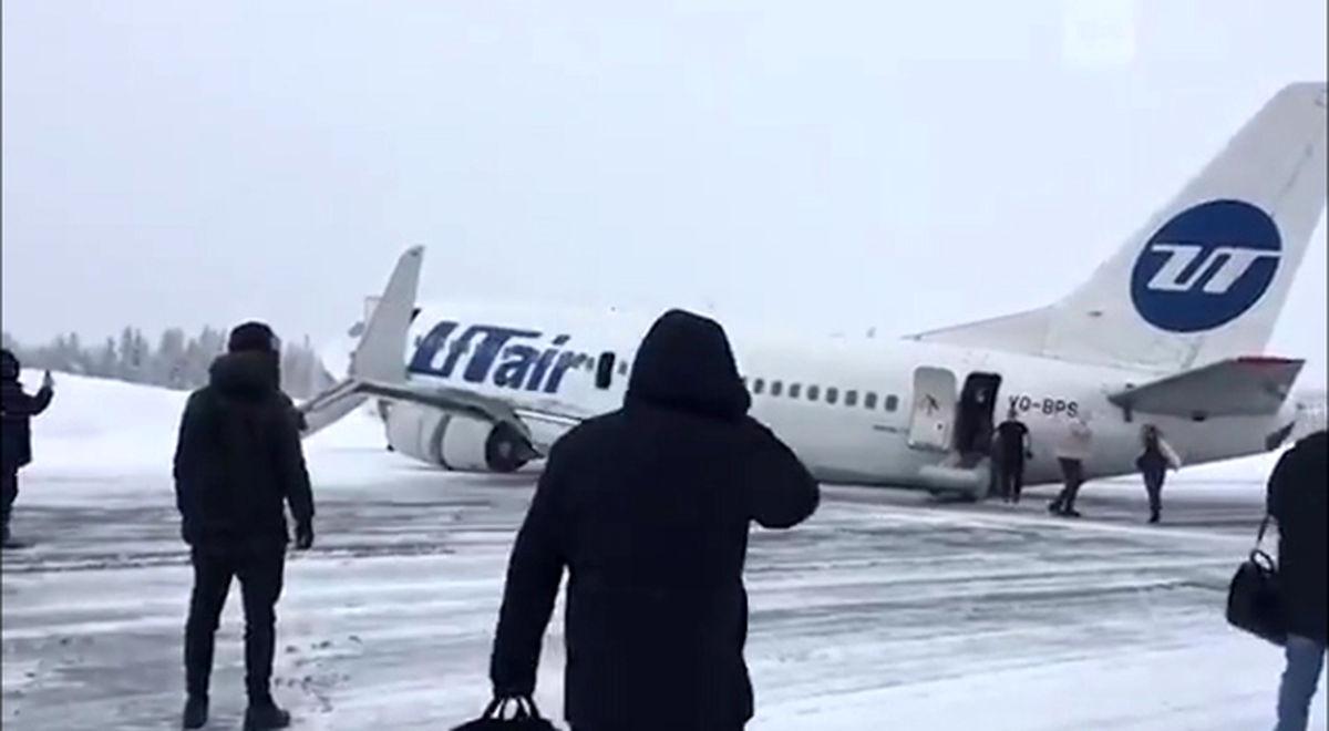 حادثه برای هواپیمای بوئینگ در روسیه