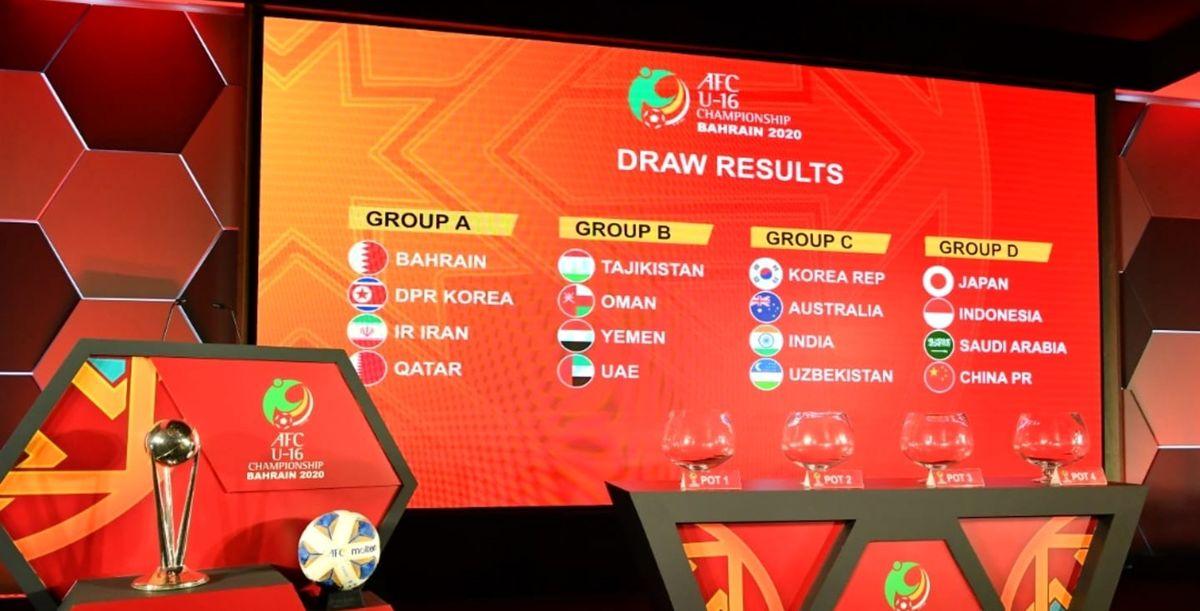 گروه بندی جام ملتهای فوتبال آسیا مشخص شد