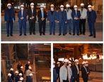بازدید مدیران ارشد بانک رفاه از مجتمع فولاد خراسان