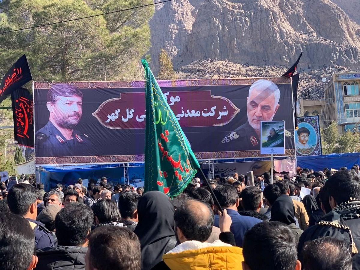 برپایی موکب گل گهر در گلزار شهدا کرمان