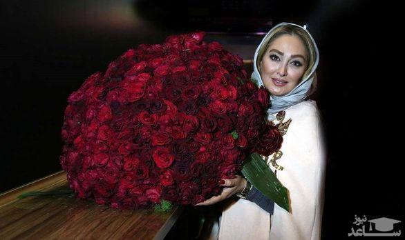 دسته گل 10 میلیونی الهام حمیدی جنجال ساز شد + عکس