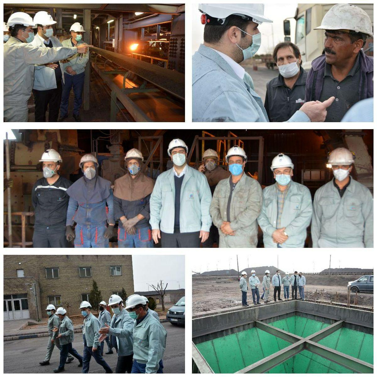 بازدید مدیرعامل فولاد خراسان از واحد گندلهسازی این شرکت