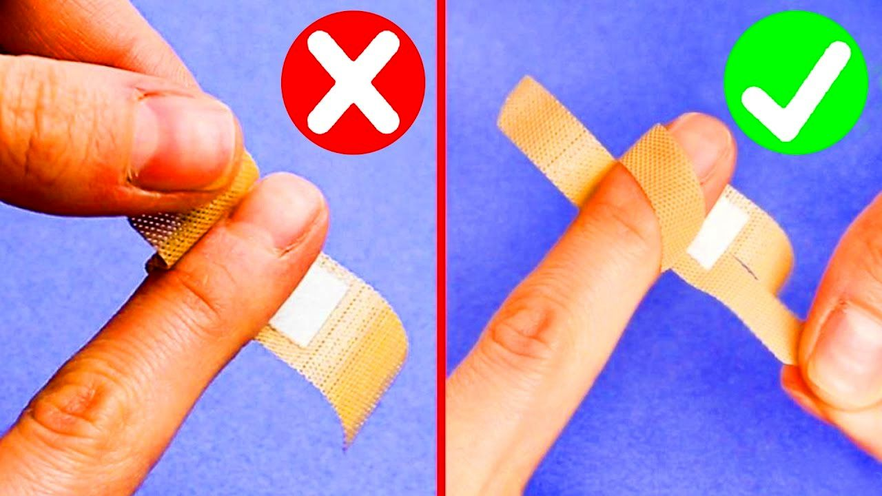 در تمام عمرتان، چسب زخم را اشتباه میبستید! + روش صحیح بستن