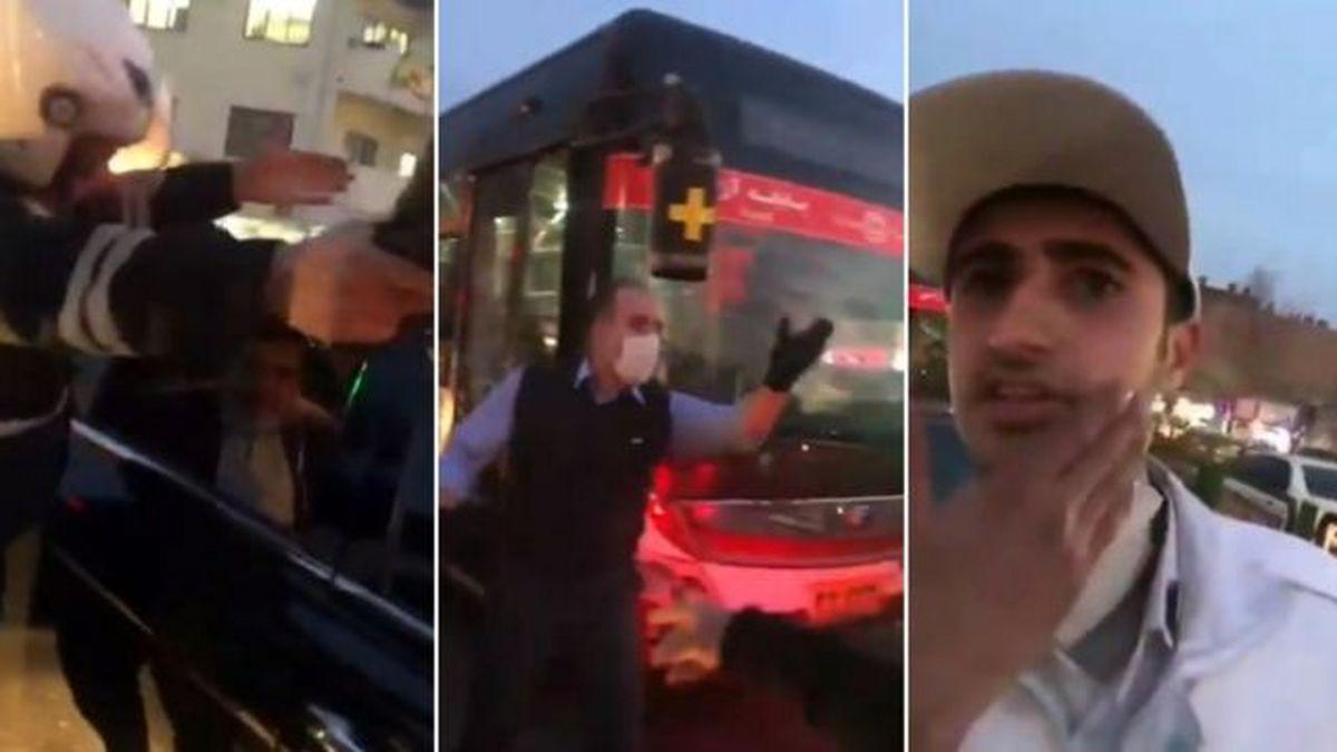فیلم دوربین مداربسته از  لحظه سیلی خوردن سرباز وظیفه شناس + فیلم