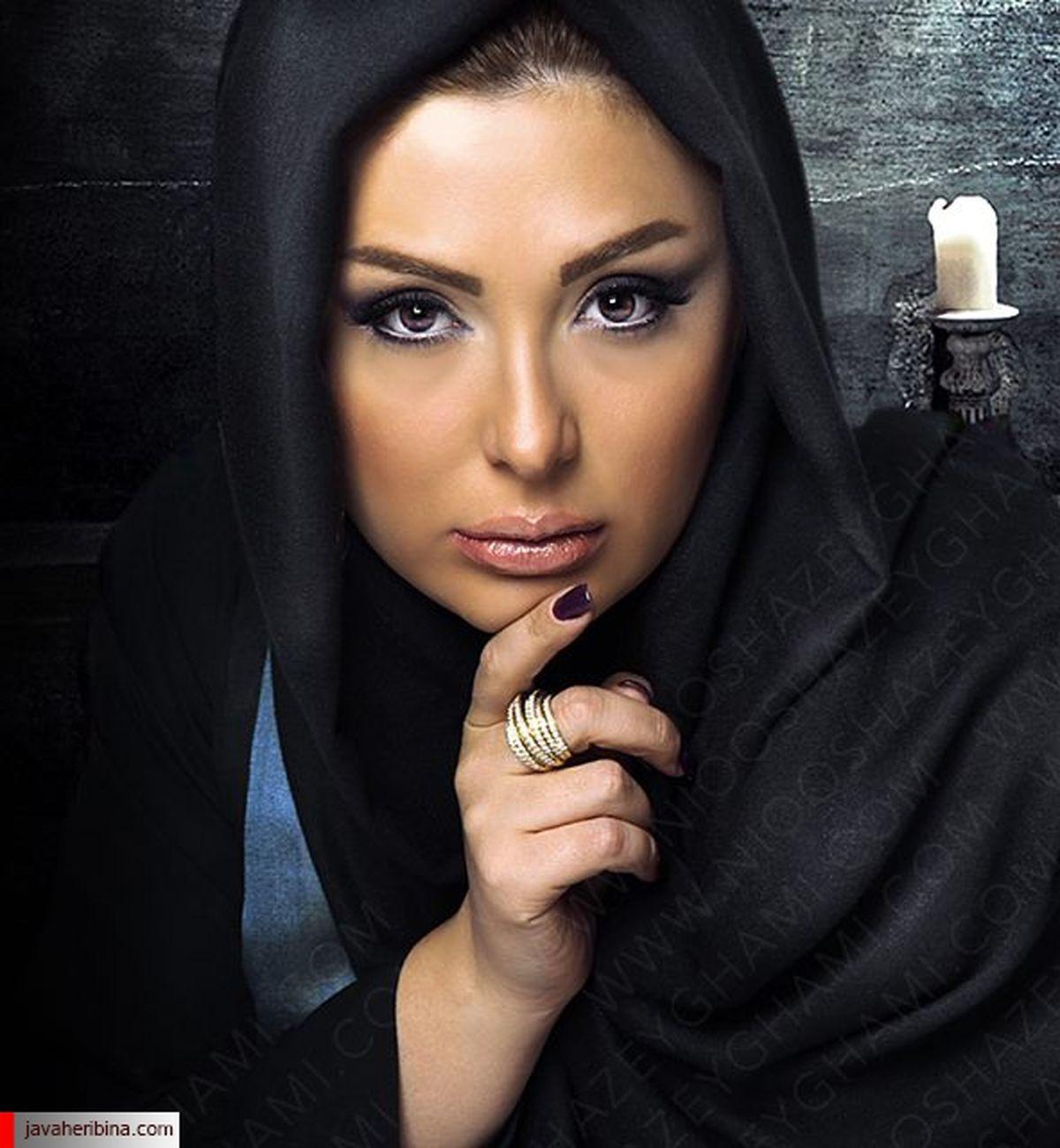 حلقه ازدواج اشرافی نیوشا ضیغمی + عکس
