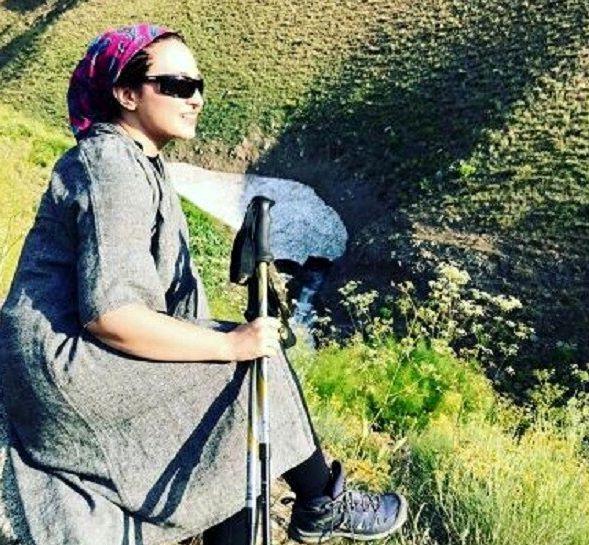 تیپ کوهنوردی گلاره عباسی جنجالی شد +عکس