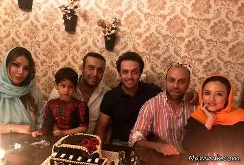 گلاره عباسی و همسرش در کنار محسن چاوشی و همسرش به همراه مصطفی زمانی
