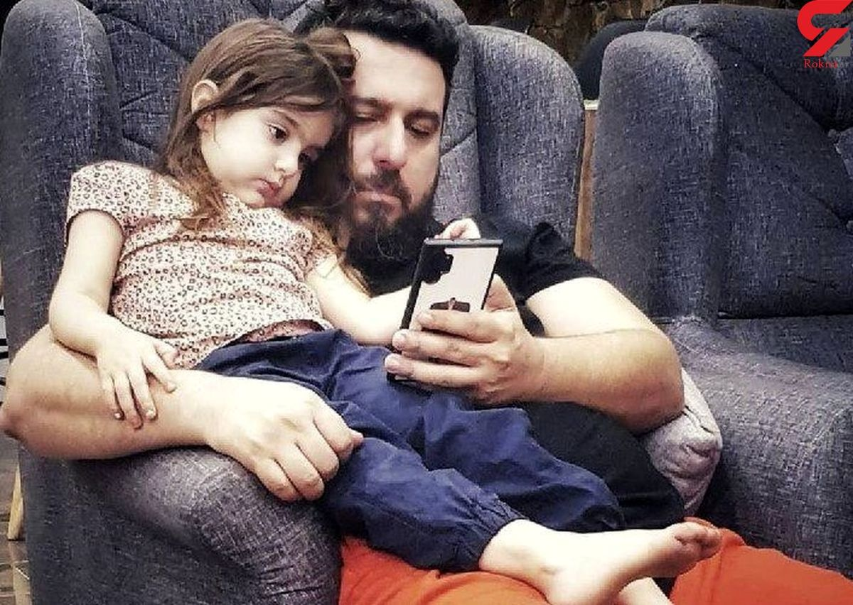 دلبری دختر زیبای محسن کیایی برای پدرش   عکس قاب گوشی بامزه محسن کیایی