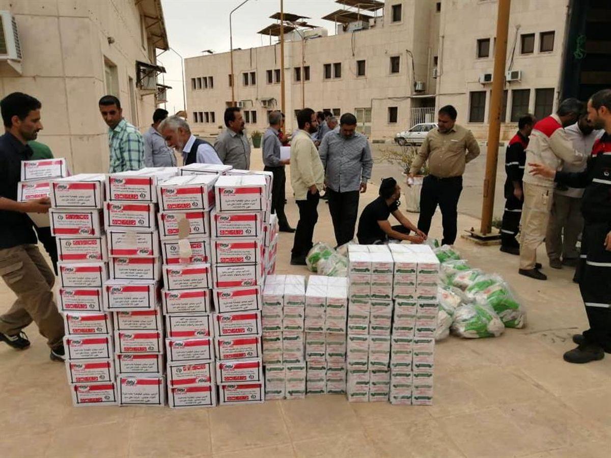 ارسال کمک های شرکت های پتروشیمی بندرماهشهر به مناطق سیل زده