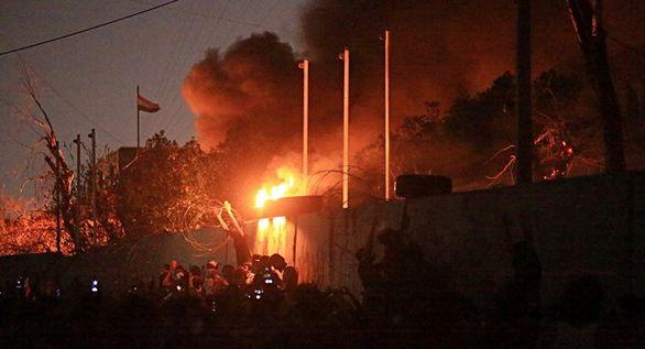 کنسولگری ایران در نجف اشرف دوباره به آتش کشیده شد