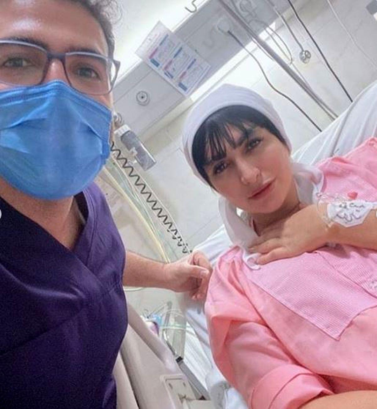 همسر سابق مهدی کوشکی کرونا را شکست داد + عکس