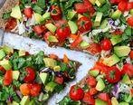 آموزش و دستور تهیه پیتزای سالاد باغ ، بسیار لذیذ