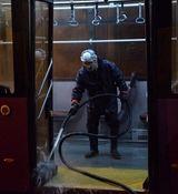 شستشو و ضدعفونیکردن اتوبوسهای پایتخت