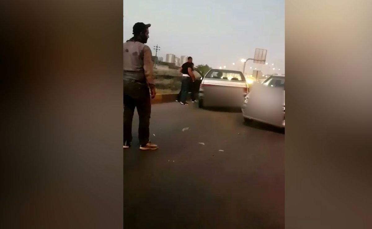 حمله وحشیانه مرد گرگانی به راننده پژو با تبر + ویدئو