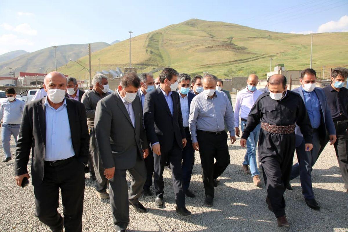 بازدید وزیر صمت از پایانه مرزی تمرچین