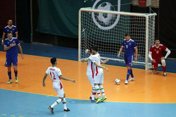 برتری تیم ملی فوتسال ایران برابر اسلواکی
