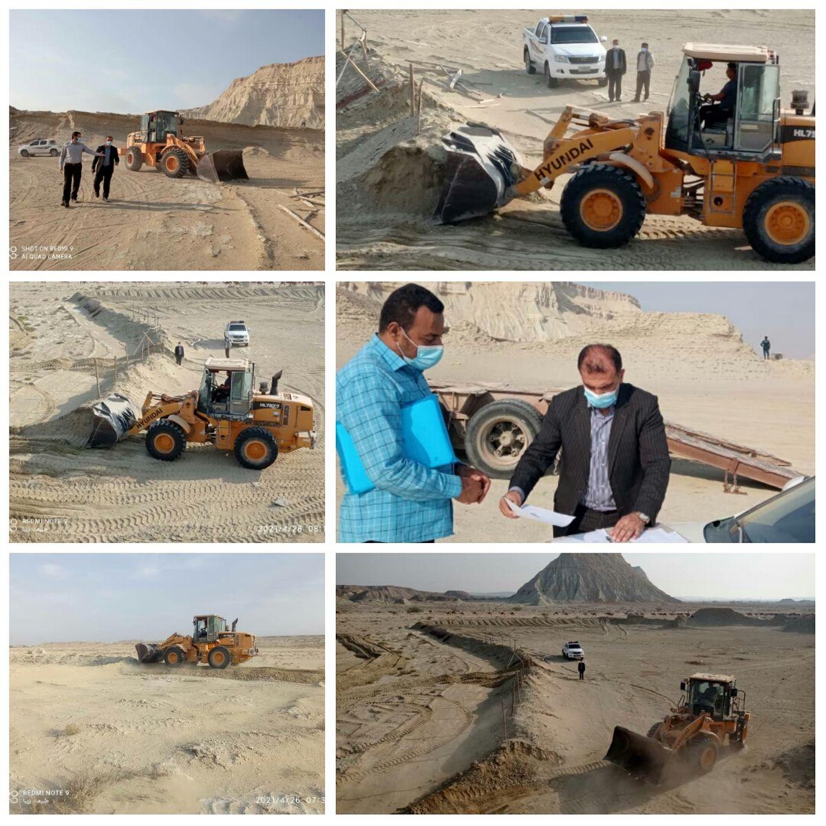 رفع تصرف اراضی خالصه دولتی در شهر سوزا قشم