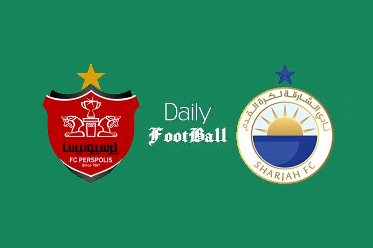 ساعت و زمان پخش بازی امشب پرسپولیس - شارجه امارات + ترکیب