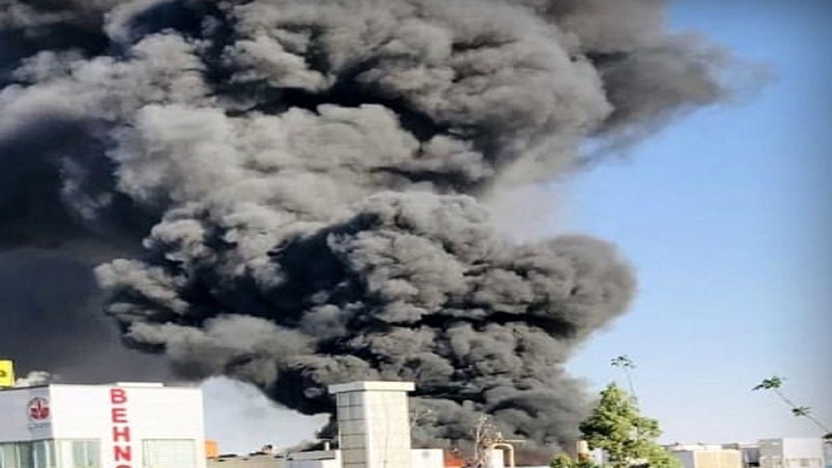 کارخانه بهنوش در آتش سوخت + فیلم
