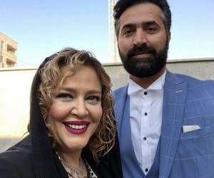عکس های لورفته و عاشقانه بهاره رهنما و همسر دومش لب ساحل + تصاویر