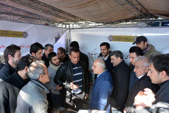 حضور کارکنان بانک صنعت و معدن در راهپیمایی با شکوه 22 بهمن